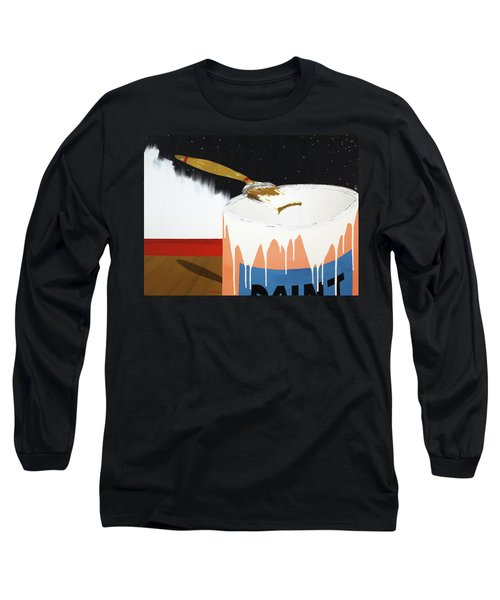 Painting Out The Sky Long Sleeve T-Shirt by Thomas Blood