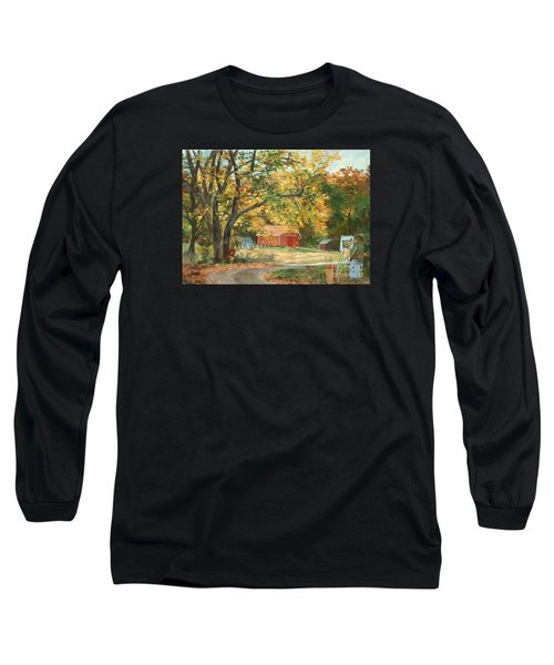 Painting The Fall Colors Long Sleeve T-Shirt