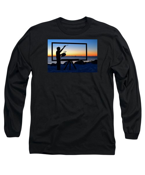 Painting The Perfect Sunrise Long Sleeve T-Shirt by James Kirkikis