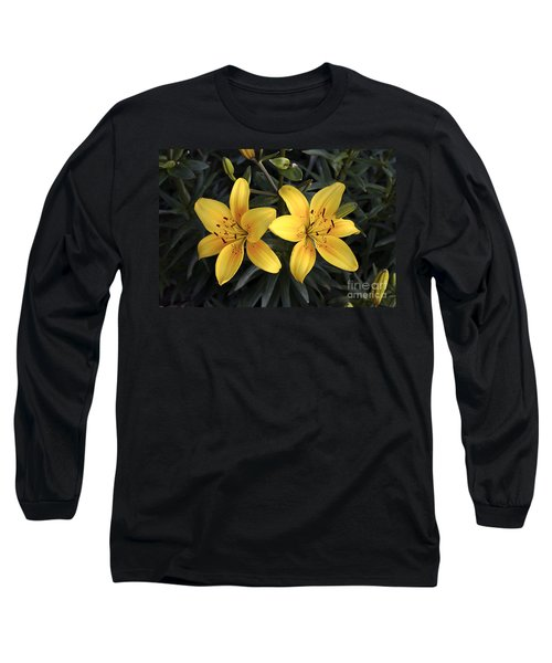 Pair Of Yellow Lilies Long Sleeve T-Shirt