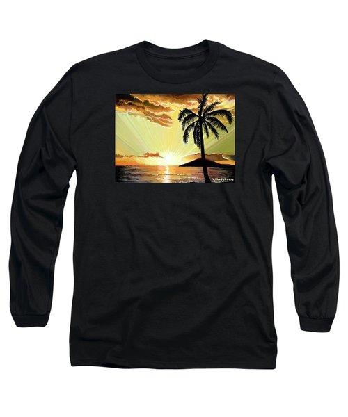Palm Beach Sunset Long Sleeve T-Shirt