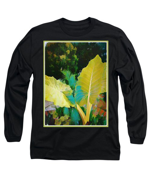 Long Sleeve T-Shirt featuring the painting Palm Branches by Mindy Newman