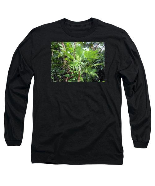 Palm Tree Long Sleeve T-Shirt by Kay Gilley