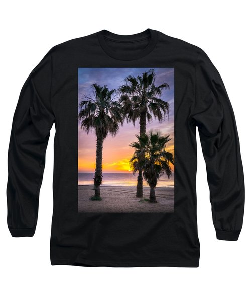 Palm Tree Sunrise. Long Sleeve T-Shirt