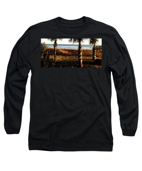 Long Sleeve T-Shirt featuring the photograph Palm Triangle by Robert Knight