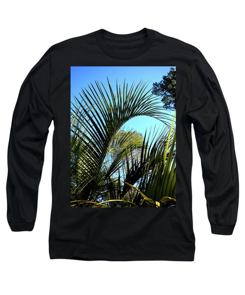 Long Sleeve T-Shirt featuring the painting Palmetto 2 by Renate Nadi Wesley