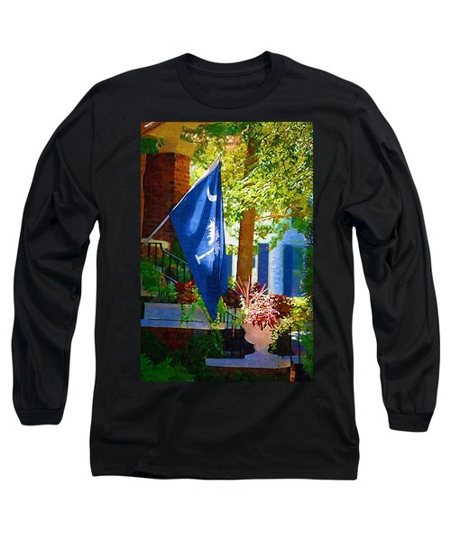 Palmetto Flag Long Sleeve T-Shirt by Donna Bentley