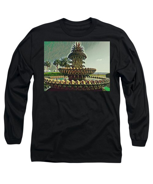 Palms And Pineapples Long Sleeve T-Shirt