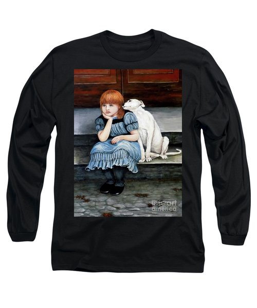 Long Sleeve T-Shirt featuring the painting Pals Forever by Judy Kirouac