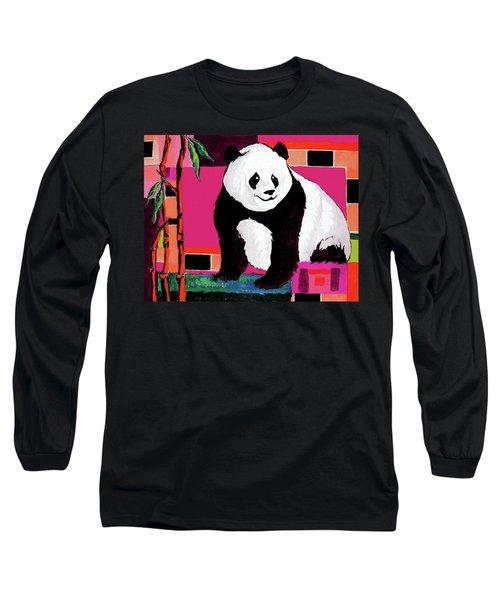 Panda Abstrack Color Vision  Long Sleeve T-Shirt