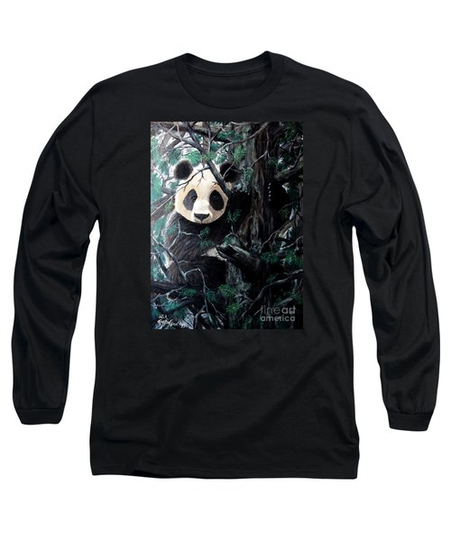 Panda In Tree Long Sleeve T-Shirt