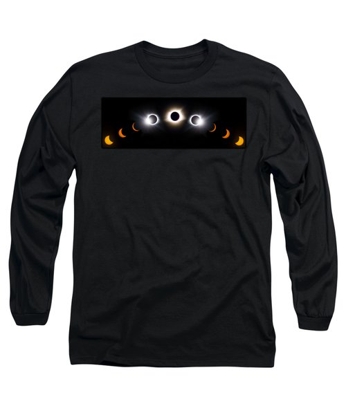 Panorama Total Eclipse T Shirt Art Phases  Long Sleeve T-Shirt
