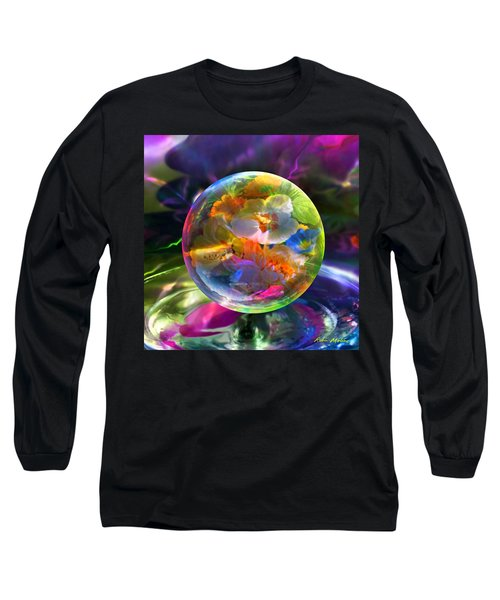 Long Sleeve T-Shirt featuring the painting Pansy Drop by Robin Moline