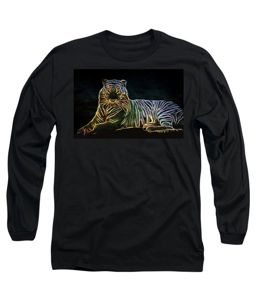 Long Sleeve T-Shirt featuring the digital art Panthera Tigris by Aaron Berg