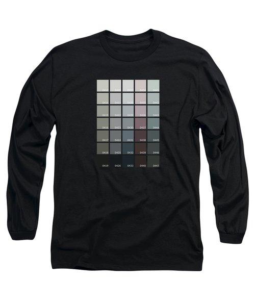 Pantone Shades Of Grey Long Sleeve T-Shirt