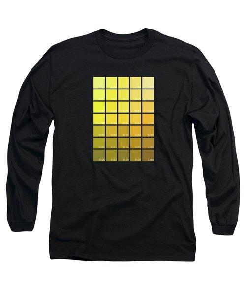 Pantone Shades Of Yellow Long Sleeve T-Shirt