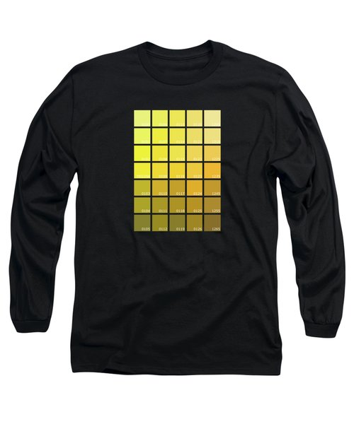 Pantone Shades Of Yellow Long Sleeve T-Shirt