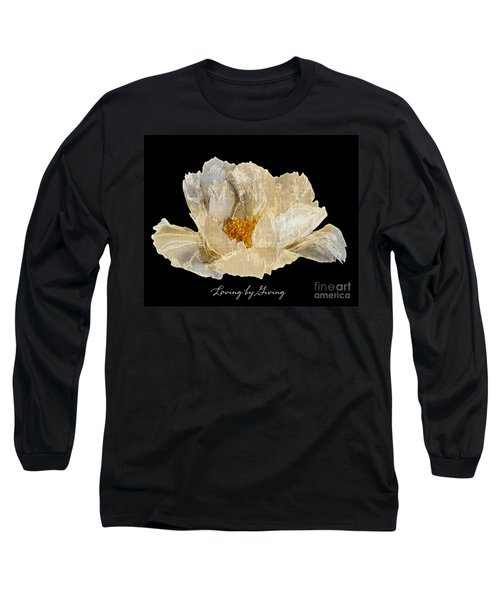 Long Sleeve T-Shirt featuring the photograph Paper Peony Loving By Giving by Diane E Berry