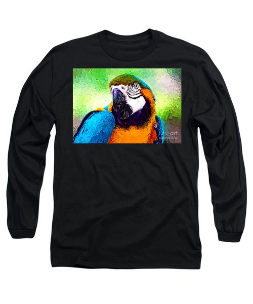 Pappagallo - Parrot Ara Ararauna Long Sleeve T-Shirt by Zedi