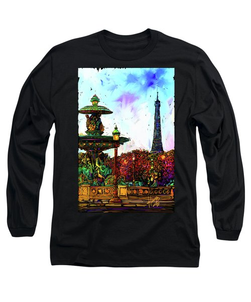 Paris Long Sleeve T-Shirt by DC Langer