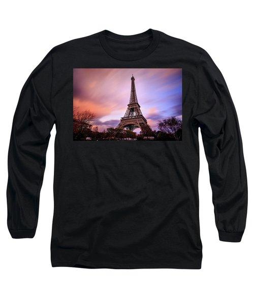 Paris Pastels Long Sleeve T-Shirt by Jennifer Casey