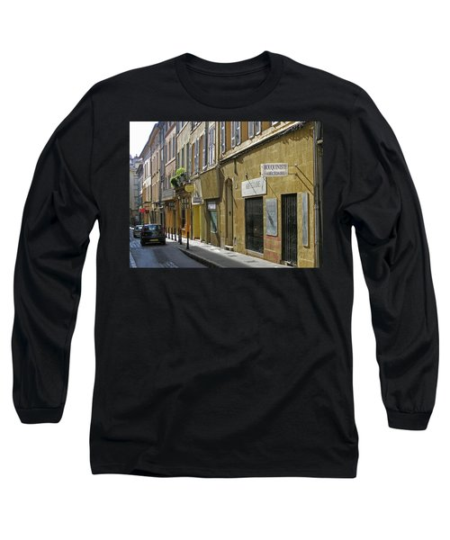 Long Sleeve T-Shirt featuring the photograph Paris Street Scene by Jim Mathis