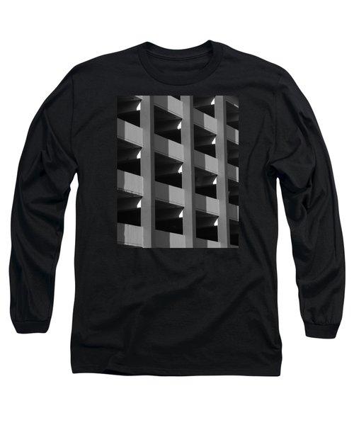 Parking Garage Milwaukee Abstract 2334 Long Sleeve T-Shirt