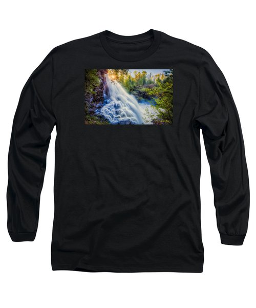 Partridge Falls In Late Afternoon Long Sleeve T-Shirt