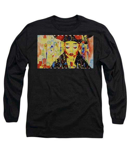 Party Girl Long Sleeve T-Shirt by Cynthia Powell