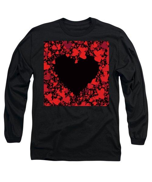 Passionate Love Heart Long Sleeve T-Shirt