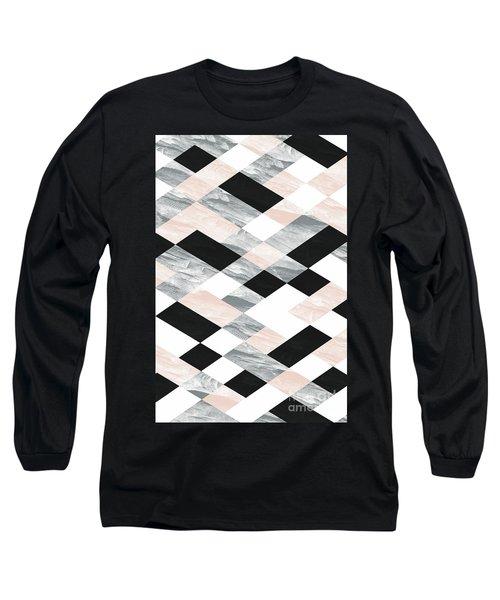 Pastel Scheme Geometry Long Sleeve T-Shirt