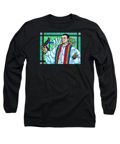 Pastor Charlie Long Sleeve T-Shirt by Jim Harris