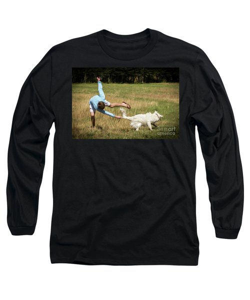 Pasture Ballet Human Interest Art By Kaylyn Franks   Long Sleeve T-Shirt