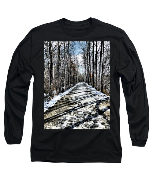 Path In Winter Long Sleeve T-Shirt