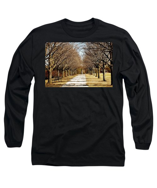 Pathway Through Trees Long Sleeve T-Shirt