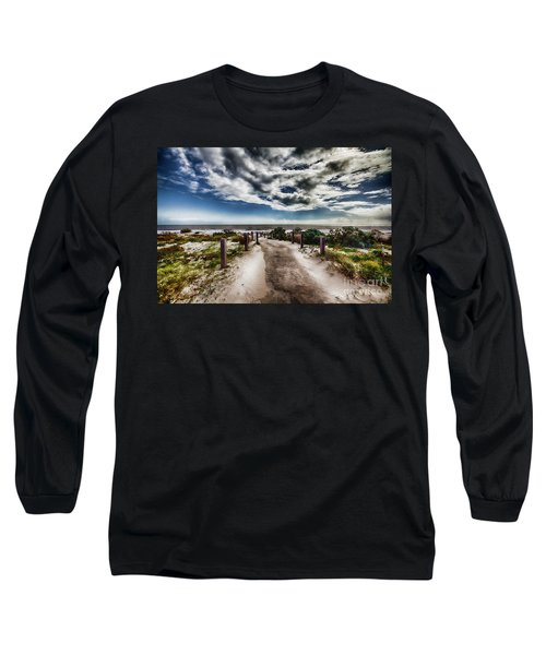 Pathway To The Beach Long Sleeve T-Shirt by Douglas Barnard