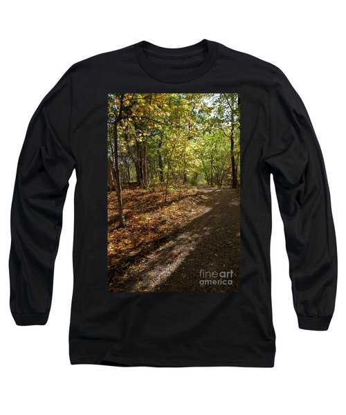 Long Sleeve T-Shirt featuring the photograph Pathways In Fall by Iris Greenwell