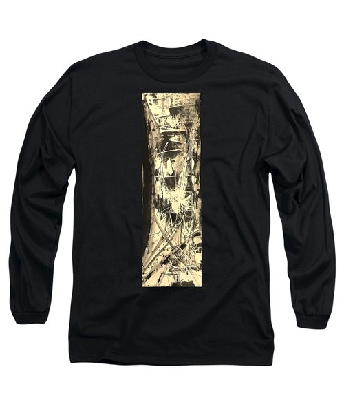 Long Sleeve T-Shirt featuring the painting Patience by Carol Rashawnna Williams