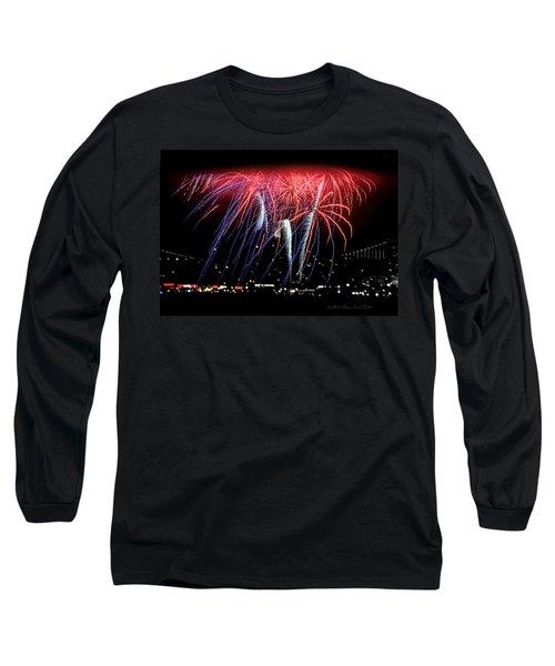 Patriotic Fireworks S F Bay Long Sleeve T-Shirt