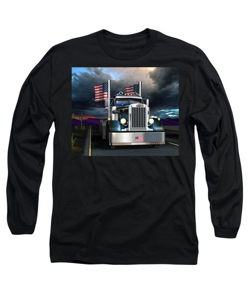 Patriotic Pete Long Sleeve T-Shirt by Stuart Swartz