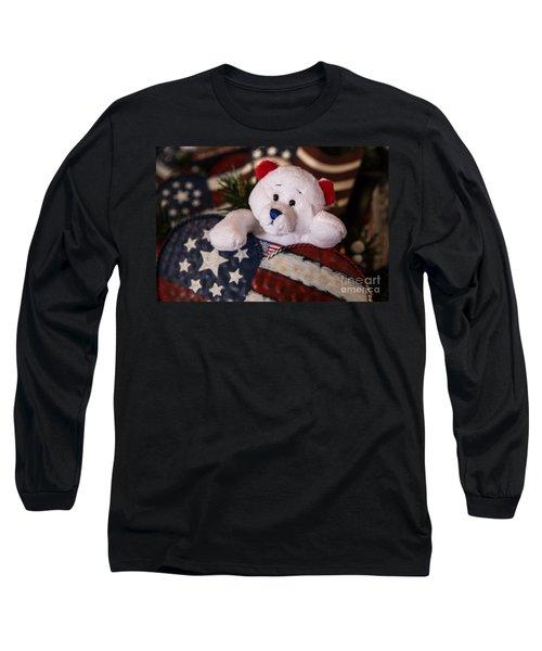 Patriotic Teddy Bear Long Sleeve T-Shirt