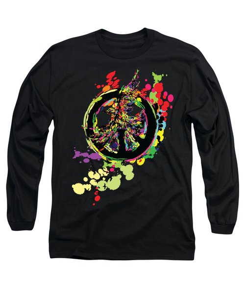 Peace And Peace Long Sleeve T-Shirt by Cindy Shim