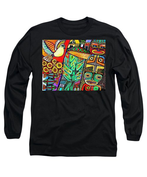 Peace Dove In Totem Forest Long Sleeve T-Shirt