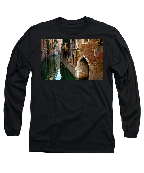 Long Sleeve T-Shirt featuring the photograph Peaceful Canal by Harry Spitz