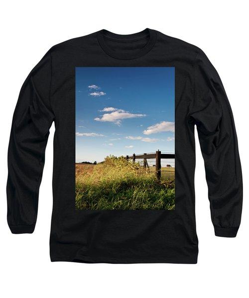Peaceful Grazing Long Sleeve T-Shirt by David Sutton