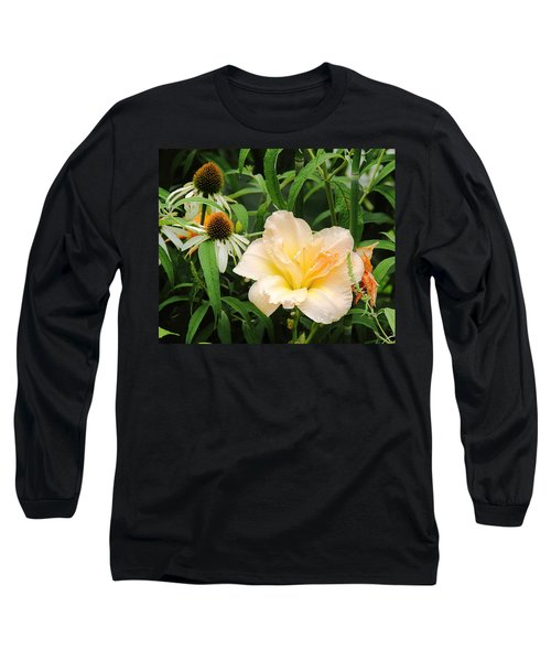 Peach Day Lily Long Sleeve T-Shirt