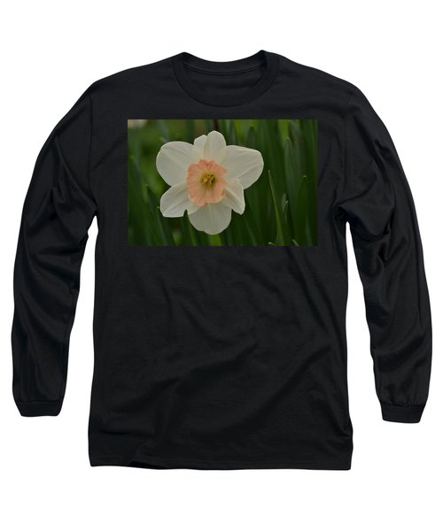 Peaches And Cream Long Sleeve T-Shirt by JD Grimes