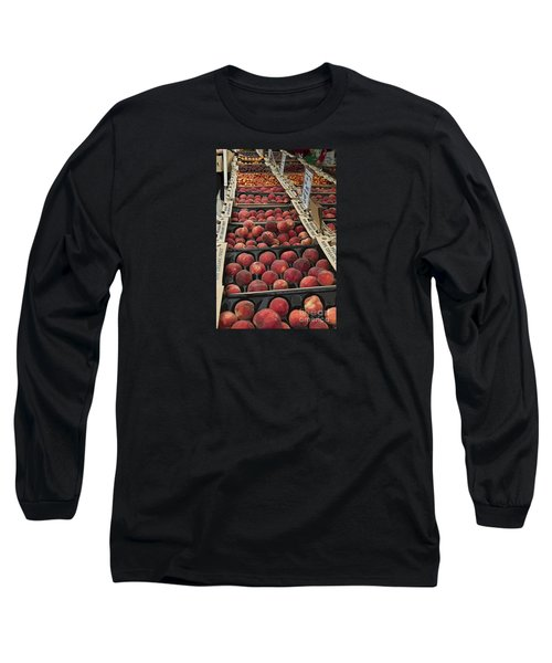 Long Sleeve T-Shirt featuring the photograph Peaches And by Jeanette French