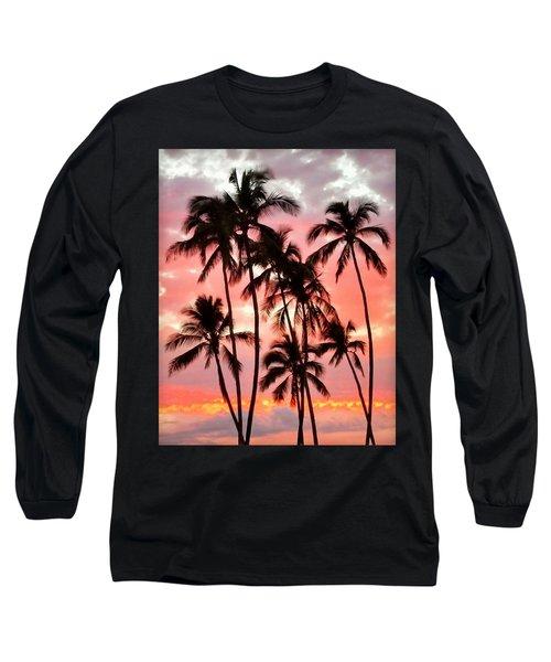 Peachy Palms Long Sleeve T-Shirt