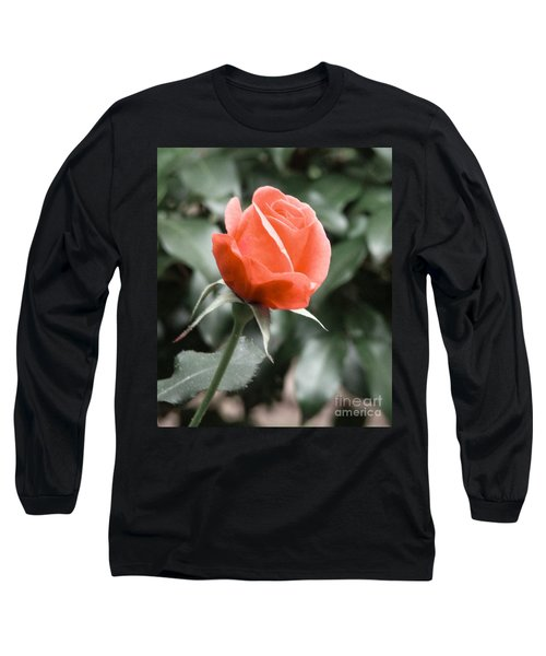 Long Sleeve T-Shirt featuring the photograph Peachy Rose by Rand Herron